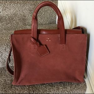 Kelsi Dagger Wyeth Carryall Red Suede/Leather